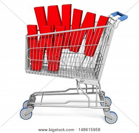 Shopping Cart 3D www online internet e-commerce store retail