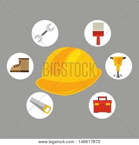 construction tools equipment icon vector illustration design