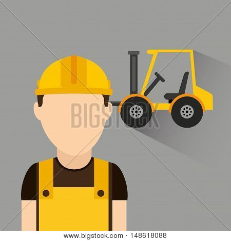 builder avatar under construction vector illustration design