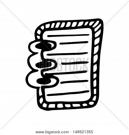 notebook directory with pages. drawn design. vector illustration