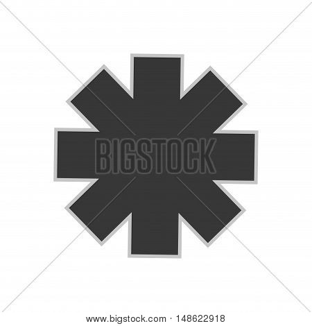 medical sign. medicine emergency icon silhouette. vector illustration