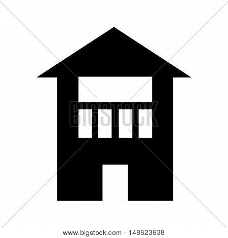 house residential property modern building silhouette. vector illustration