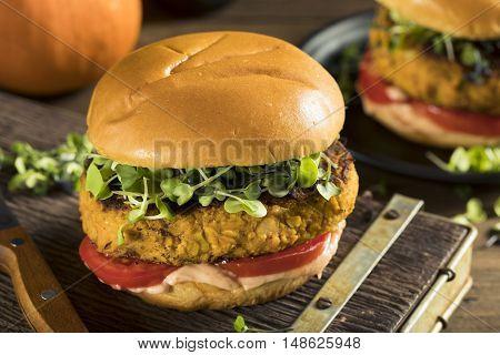 Homemade Pumpkin And Bean Burger