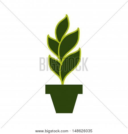 green plant in a pot. eco symbol element. vector illusrration