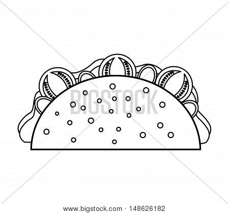 delicious mexican burrito fast food icon vector illustration design
