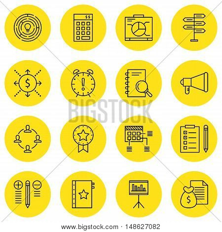 Set Of Project Management Icons On Quality Management, Cash Flow, Research And More. Premium Quality