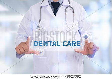 DENTAL CARE Medicine doctor hand working Doctor work hard