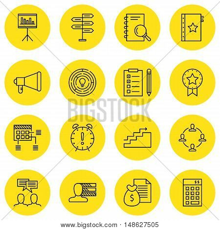 Set Of Project Management Icons On Charts, Task List, Research And More. Premium Quality Eps10 Vecto