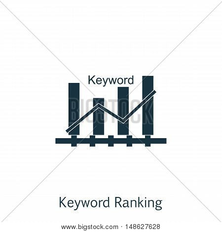 Vector Illustration Of Seo, Marketing And Advertising Icon On Keyword Ranking In Trendy Flat Style.