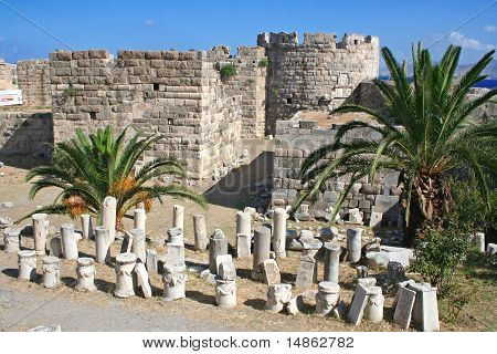 Greece. Kos. The Castle Of The Knights Of The Order Of Saint John.