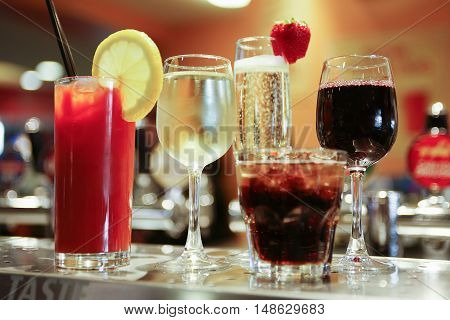 Various Alcoholic Drinks