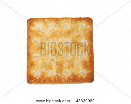 Tasty Biscuit Texture Closeup Details Isolated On White background