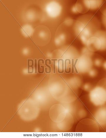 Abstract orange background luxury Christmas holiday wedding background brown frame bright spotlight smooth vintage background texture orange paper design