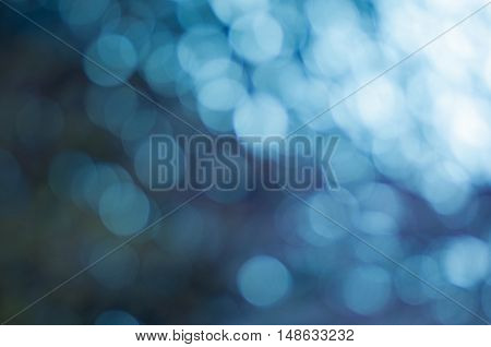 Circle bokeh with blue color background , glitter background