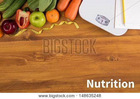 Nutrition Diet Healthy Life And Eating