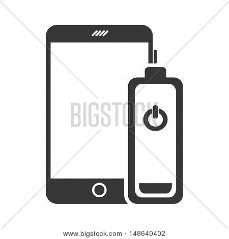 smartphone mobile phone with power battery icon. communication and technology device. vector illustration