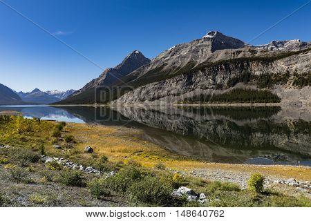 Scenic Spray Lakes in the summer Kananaskis Country Alberta Canada