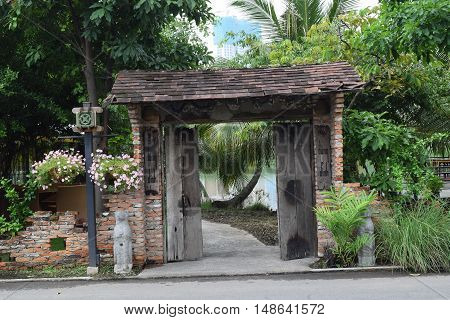 Landscaping Brick Gate In Countryside