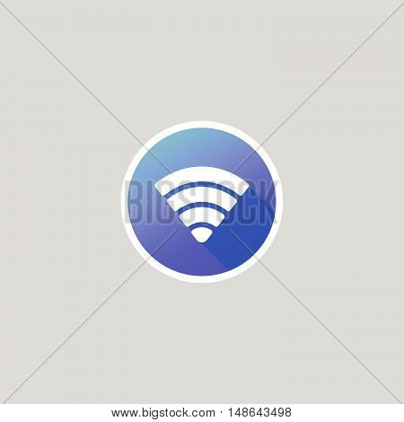 Modern Wifi or Signal or Cellular Network Icon