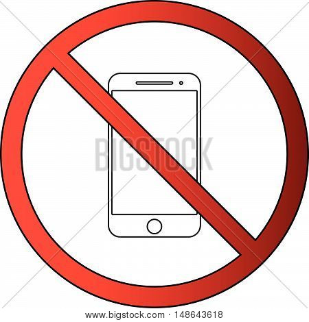 No Mobile Phone or Cellular Allowed Icon