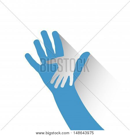 Vector sign children hand, isolated on white