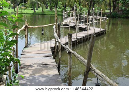 Simply Small Bridge In Countryside