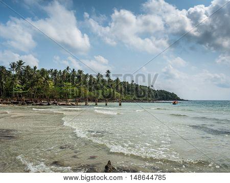 Beautiful Tropical Beach In Koh Kood Island