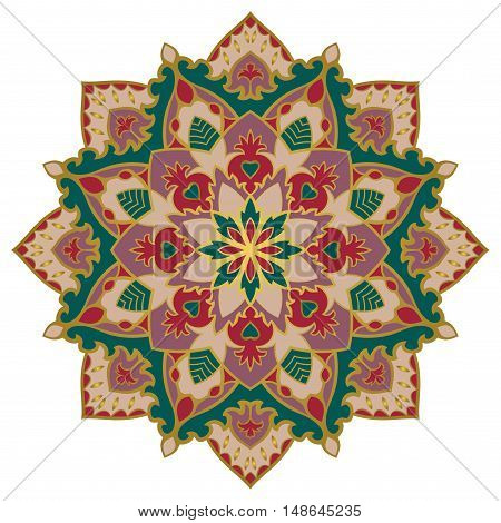 Rich oriental mandala. You can use this pattern for the shawl carpet cushion cover textile and other surfaces.