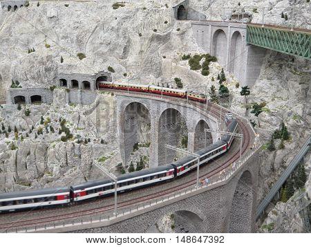 Part of worlds largest Model Railway Set in Hamburg Germany