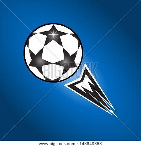 Soccer ball. Footbal ball. Soccer ball icon. UEFA 2016. EURO Championship Soccer Ball. Soccer ball fly. Champions match Soccer ball. Vector abstract illustration. Flat vector.