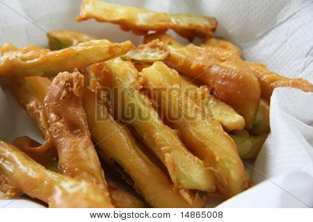 Fried golden fritters deepfried snacks