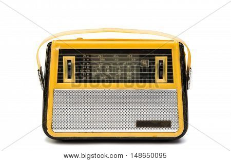 retro radio vintage isolated on white background