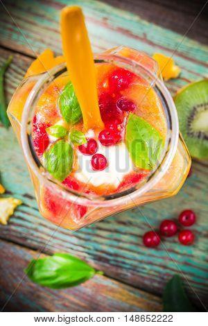 Fruit Smoothie Kiwi Orange Red Currants