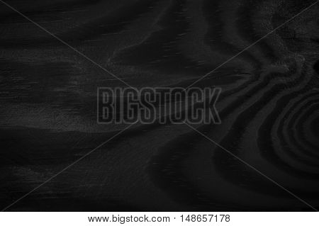 Wood Background Black Texture. Blank For Design