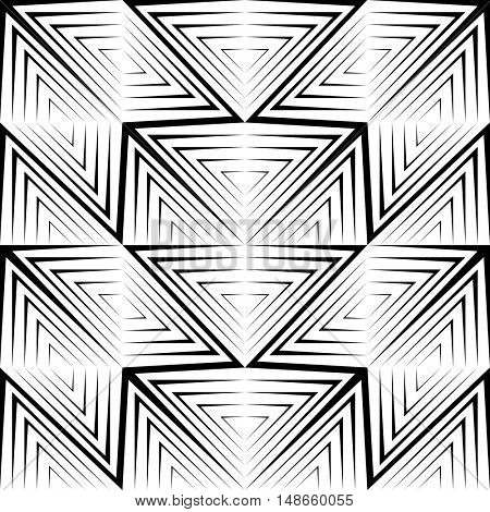 Seamless Stripe and Line Pattern. Vector Black and White Texture