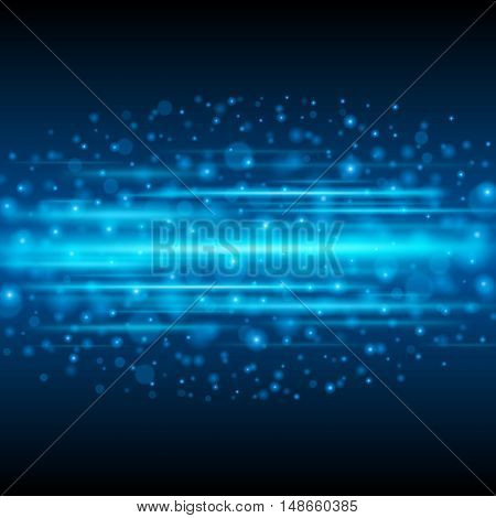 Abstract Light Bokeh Background Vector Illustration.