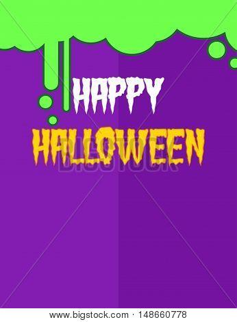 Flat style Halloween green potion flyer design