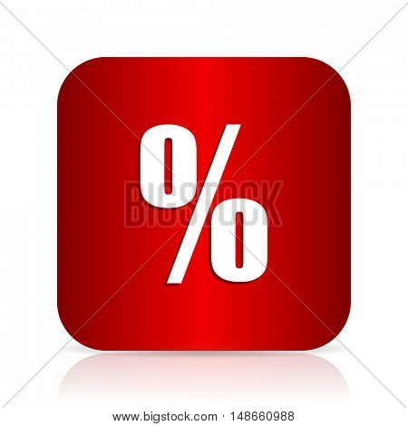 percent red square modern design icon
