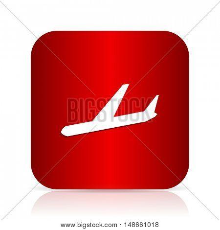 arrivals red square modern design icon