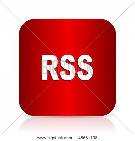 rss red square modern design icon