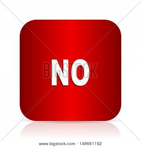 no red square modern design icon