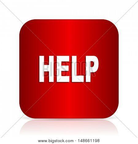 help red square modern design icon