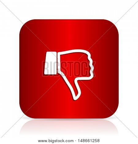 dislike red square modern design icon