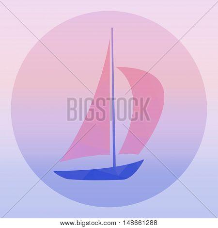 Sailboat - vector logo concept illustration. Ship sign. Yacht logo. Design element. Sailing ship to Scarlet Sails