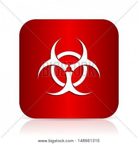 biohazard red square modern design icon