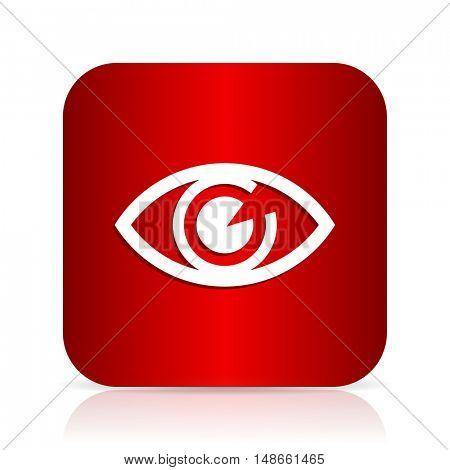eye red square modern design icon
