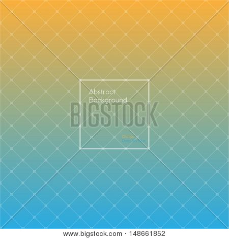 Gradient Orange and Deep sky blue colored triangle polygon pattern vintage background. Abstract geometrical background made up with triangular and rhombus shapes. Brochure poster design. Wallpapers for your computer phone and tablet. Vector illustration 2