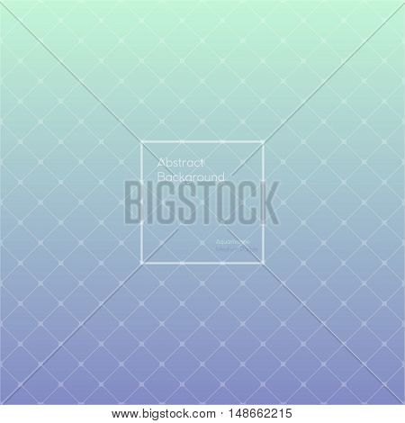 Gradient Aquamarine and Medium purple colored triangle polygon pattern vintage background. Abstract geometrical background made up with triangular and rhombus shapes. Brochure poster design.