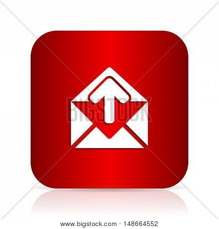 email red square modern design icon
