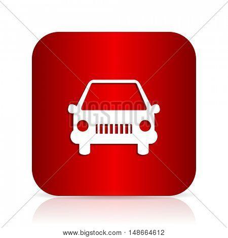 car red square modern design icon
